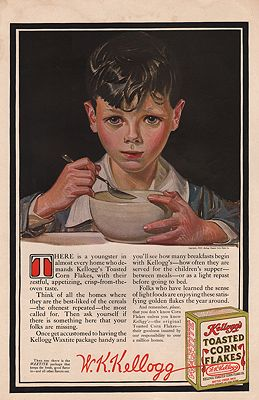 ORIG VINTAGE 1915 KELLOGG'S CORN FLAKES ADillustrator- J.C.  Leyendecker - Product Image