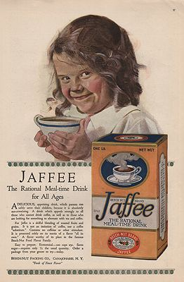ORIG VINTAGE 1918 JAFFEE MEAL-TIME DRINK ADillustrator- N/A - Product Image