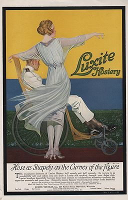 ORIG VINTAGE 1919 LUXITE HOSIERY ADillustrator- Coles  Phillips - Product Image