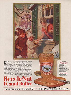 ORIG VINTAGE 1920s BEECH-NUT PEANUT BUTTER ADillustrator- N/A - Product Image
