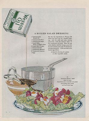 ORIG VINTAGE 1920s WESSON OIL ADillustrator- Rene  Clarke - Product Image