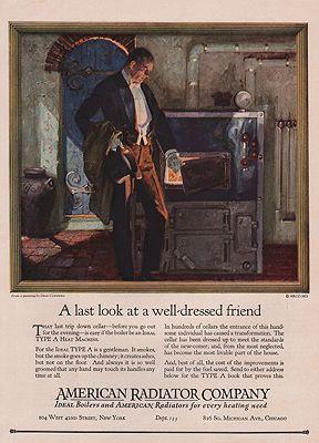 ORIG VINTAGE 1923 AMERICAN RADIATOR ADillustrator- Dean   Cornwell - Product Image