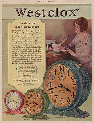 ORIG VINTAGE 1923 WESTCLOX ADillustrator- N/A - Product Image