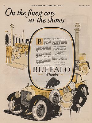 ORIG VINTAGE 1924 BUFFALO WIRE WHEELS ADillustrator- N/A - Product Image