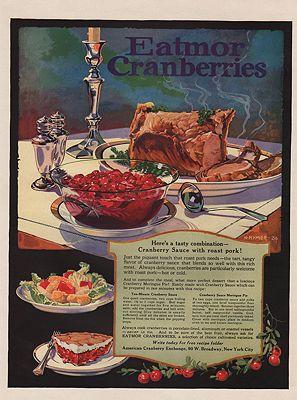 ORIG VINTAGE 1924 EATMOR CRANBERRIES ADillustrator- H.  Hymer - Product Image