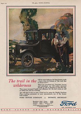 ORIG VINTAGE 1925 FORD MOTOR CAR ADillustrator- N/A - Product Image