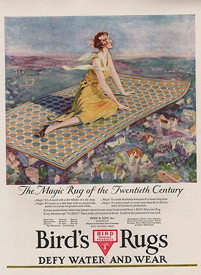 ORIG VINTAGE 1926 BIRD'S RUGS ADillustrator- John  Goss - Product Image