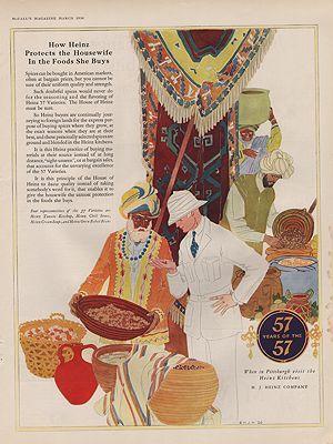 ORIG VINTAGE 1926 HEINZ COMPANY ADillustrator- Rene  Clarke - Product Image