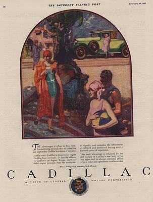 ORIG VINTAGE 1927 CADILLAC ADillustrator- N/A - Product Image