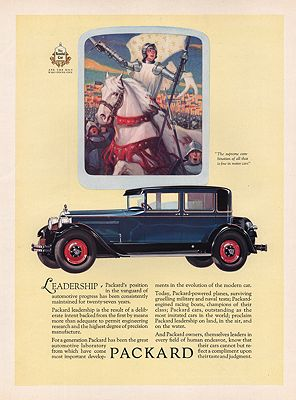 ORIG VINTAGE 1927 PACKARD CAR ADillustrator- N/A - Product Image