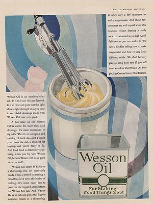ORIG VINTAGE 1927 WESSON OIL ADillustrator- Rene  Clarke - Product Image