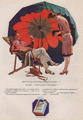 ORIG VINTAGE 1928 CHESTERFIELD CIGARETTES ADillustrator- Saul  Tepper - Product Image