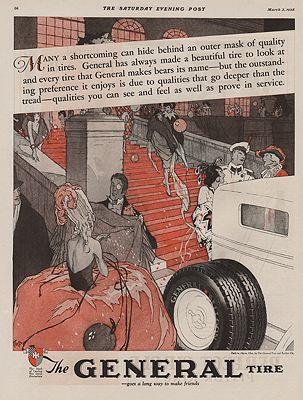 ORIG VINTAGE 1928 GENERAL TIRE ADillustrator- Walter  Klett - Product Image