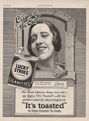 ORIG VINTAGE 1928 LUCKY STRIKE CIGARETTES ADillustrator- N/A - Product Image