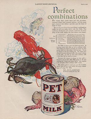 ORIG VINTAGE 1928 PET MILK ADillustrator- M.C.  Kaiser - Product Image