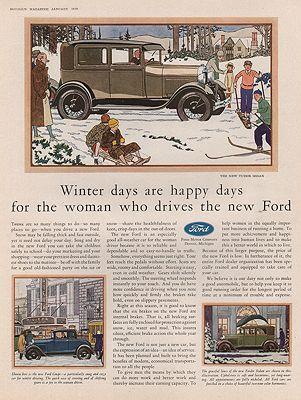 ORIG VINTAGE 1929 FORD CAR ADillustrator- N/A - Product Image