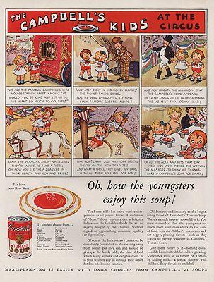 ORIG VINTAGE 1932 CAMPBELL'S SOUP ADillustrator- N/A - Product Image