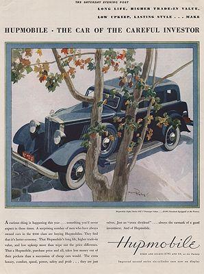 ORIG VINTAGE 1932 HUPMOBILE CAR ADillustrator- Myron  Perley - Product Image