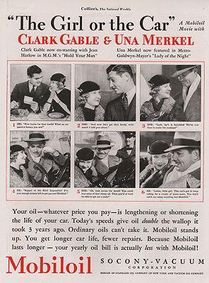 ORIG VINTAGE 1933 MOBILOIL ADillustrator- N/A - Product Image