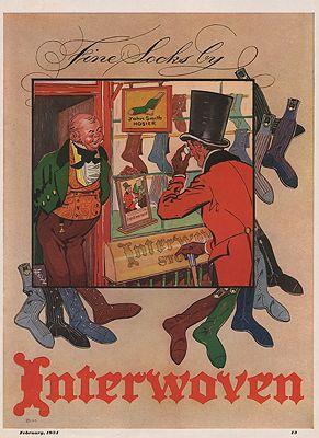 ORIG VINTAGE 1934 INTERWOVEN SOCKS ADillustrator- N/A - Product Image