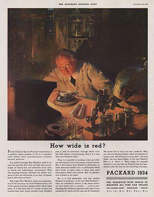 ORIG VINTAGE 1934 PACKARD CAR ADillustrator- Haddon   Sundblom - Product Image