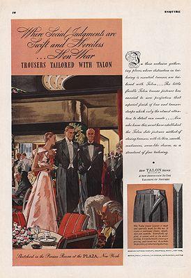 ORIG VINTAGE 1935 TALON ZIPPER ADillustrator- Leslie   Saalburg - Product Image