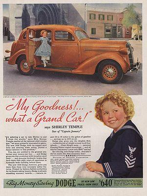 ORIG VINTAGE 1936  DODGE CAR ADillustrator- McClelland  Barclay - Product Image
