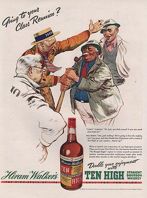 ORIG VINTAGE 1938 HIRAM WALKER WHISKEY ADillustrator- Floyd  Davis - Product Image