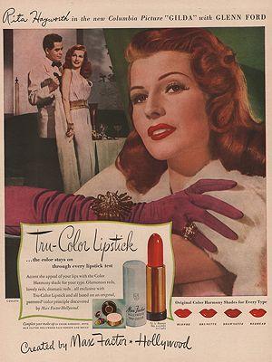 ORIG VINTAGE 1946 MAX FACTOR MAKE-UP ADillustrator- N/A - Product Image