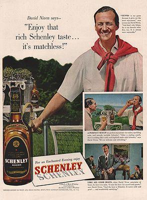 ORIG VINTAGE 1951 SCHENLEY WHISKEY ADillustrator- N/A - Product Image
