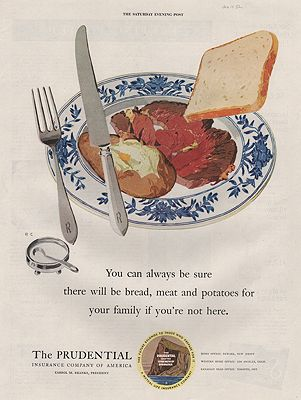 ORIG VINTAGE 1952 PRUDENTAIL INSURANCE ADillustrator- Rene  Clarke - Product Image
