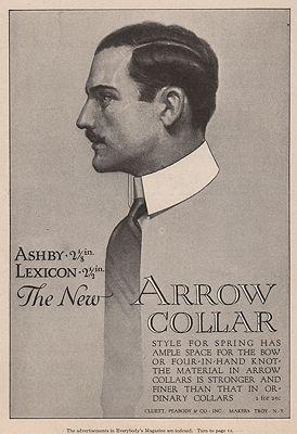 ORIG VINTAGE MAGAZINE AD = 1916 ARROW COLLAR ADillustrator- N/A - Product Image