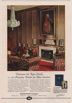 ORIG VINTAGE MAGAZINE AD / 1924 MURPHY VARNISH COMPANY ADillustrator- Edward A.  Wilson - Product Image