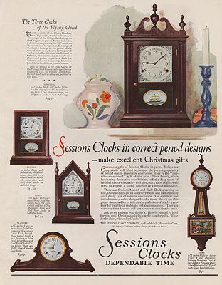 ORIG VINTAGE MAGAZINE AD / 1928 SESSIONS CLOCKS ADillustrator- N/A - Product Image