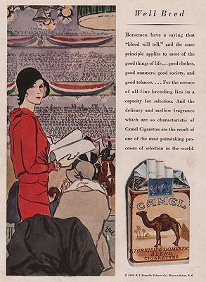 ORIG VINTAGE MAGAZINE AD / 1929 CAMEL CIGARETTES ADillustrator- Carl  Erickson - Product Image