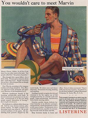ORIG VINTAGE MAGAZINE AD / 1929 LISTERINE ADillustrator- E.M.  Jackson - Product Image