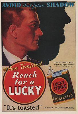 ORIG VINTAGE MAGAZINE AD / 1929 LUCKY STRIKE CIGARETTES ADillustrator- N/A - Product Image