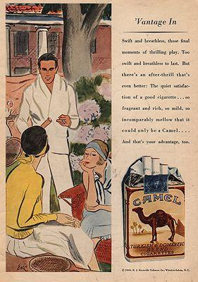 ORIG VINTAGE MAGAZINE AD / 1930 CAMEL CIGARETTES ADillustrator- Carl  Erickson - Product Image