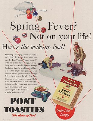ORIG VINTAGE MAGAZINE AD / 1930 POST TOASTIES CEREAL AD illustrator- N/A - Product Image