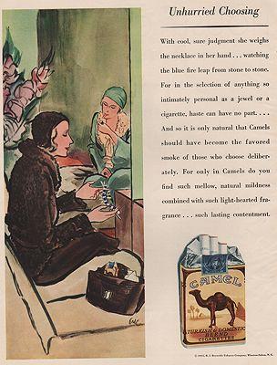 ORIG VINTAGE MAGAZINE AD / 1931 CAMEL CIGARETTES ADillustrator- Carl  Erickson - Product Image