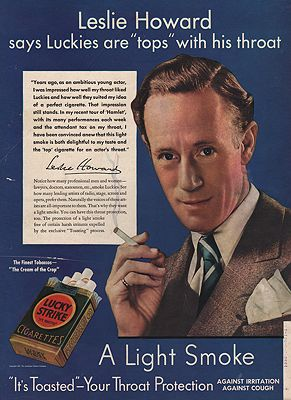 ORIG VINTAGE MAGAZINE AD / 1937 LUCKY STRIKE CIGARETTES ADillustrator- N/A - Product Image