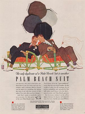 ORIG VINTAGE MAGAZINE AD / 1941 PALM BEACH SUIT ADillustrator- Harry  Beckhoff - Product Image