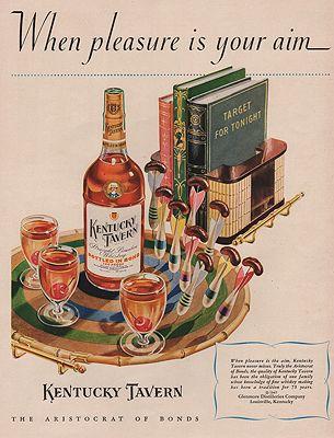 ORIG VINTAGE MAGAZINE AD / 1947 KENTUCKY TAVERN WHISKEY ADillustrator- N/A - Product Image