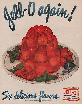 ORIG VINTAGE MAGAZINE AD / 1948 JELL-O ADillustrator- N/A - Product Image