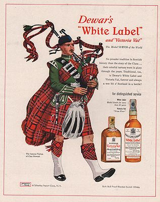 ORIG VINTAGE MAGAZINE AD / 1953 DEWAR'S WHISKEY ADillustrator- James  Williamson - Product Image
