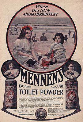 ORIG. VINTAGE MAGAZINE AD: 1894 MENNEN TALCUM POWDER ADillustrator- N/A - Product Image