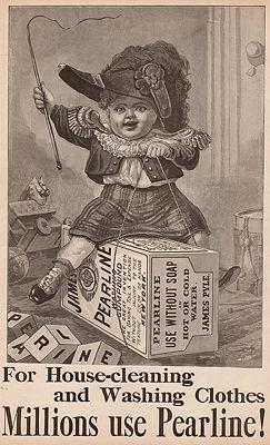 ORIG. VINTAGE MAGAZINE AD: 1894 PEARLINE SOAPillustrator- N/A - Product Image