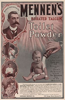 ORIG VINTAGE MAGAZINE AD/ 1901 MENNEN'S TALCUM POWDER ADillustrator- N/A - Product Image