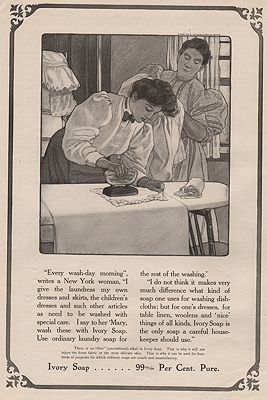 ORIG VINTAGE MAGAZINE AD/ 1908 IVORY SOAP ADillustrator- Eugenie  Wireman - Product Image