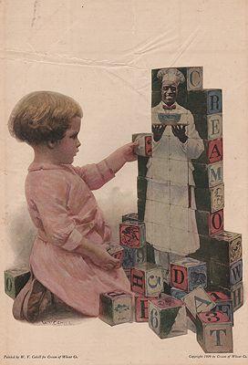 ORIG. VINTAGE MAGAZINE AD: 1909 CREAM OF WHEAT CEREAL ADillustrator- W.V.  Cahil5 - Product Image